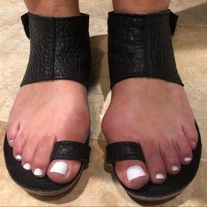 Pedro Garcia Shoes - Pedro Garcia Black Ankle Cuff Sandals
